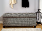 shoe storage bench in black