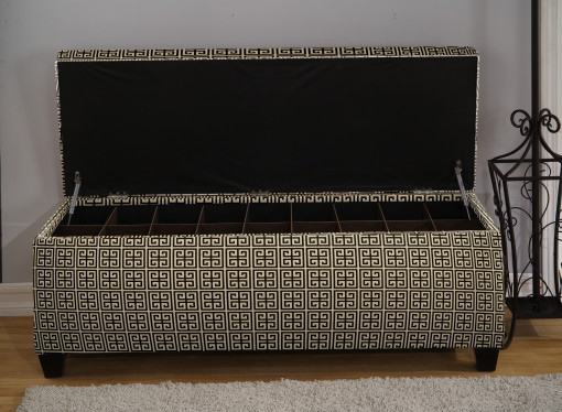 black shoe storage bench