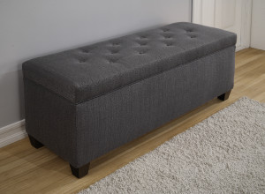 charcoal shoe storage bench