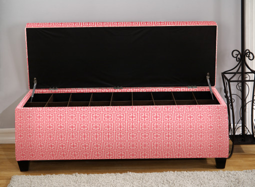 pink shoe storage for the house