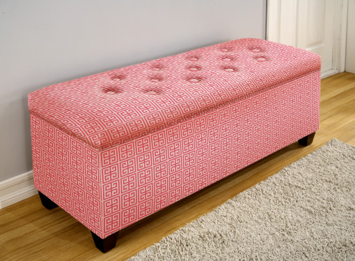 pink bench for shoes