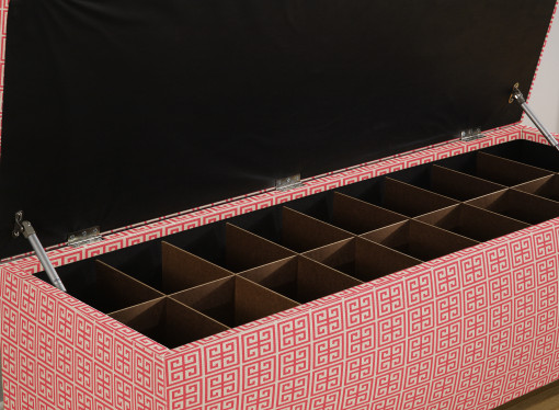 shoe bench with dividers for large shoes