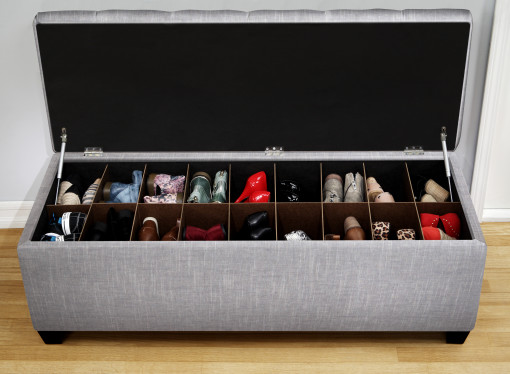 entryway shoe bench with shoe organizers