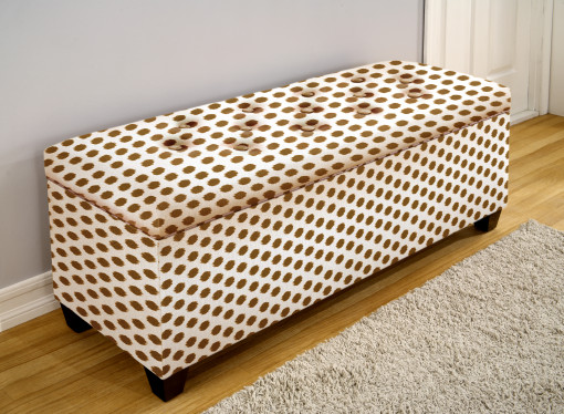 brown pattern home shoe bench