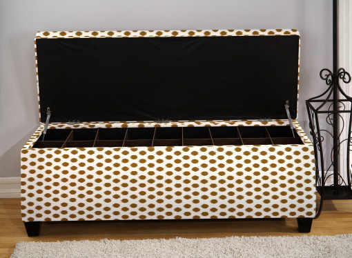 open shoe storage bench