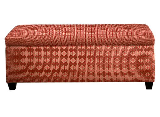 popular orange shoe bench