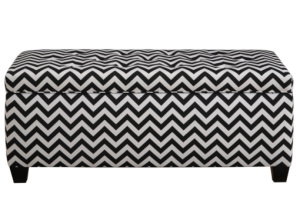 zizag black and white shoe bench